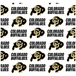 University of Colorado Logo Repeat - CU Buffaloes Away Adult Mask Design Full View
