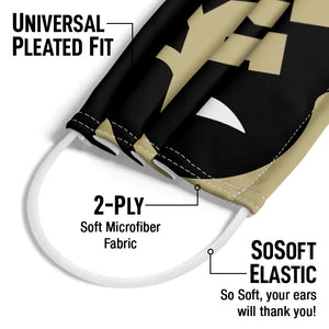 Load image into Gallery viewer, University of Colorado Buffs Logo Lockup - Black Adult Universal Pleated Fit, 2-Ply, SoSoft Elastic Earloops