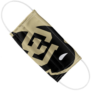 University of Colorado Buffs Logo Lockup - Black Adult Flat View