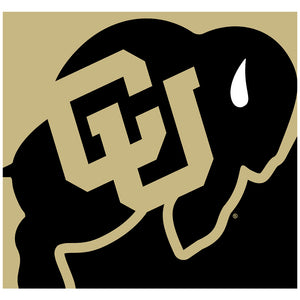 University of Colorado Buffs Logo Lockup - Black Adult Mask Design Full View