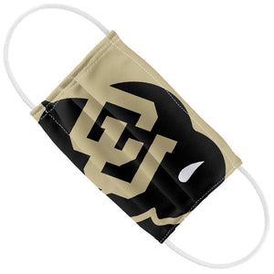 Load image into Gallery viewer, University of Colorado Buffs Logo Lockup - Black Kids Flat View