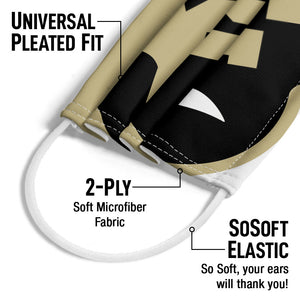 University of Colorado Buffs Logo Lockup - White Adult Universal Pleated Fit, 2-Ply, SoSoft Elastic Earloops