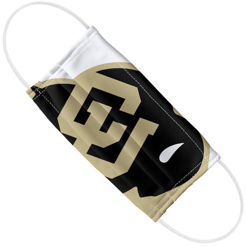 University of Colorado Buffs Logo Lockup - White Adult Flat View