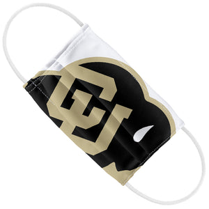 University of Colorado Buffs Logo Lockup - White Kids Flat View