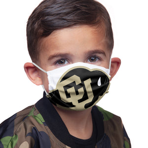 University of Colorado Buffs Logo Lockup - White Kids Main Model View