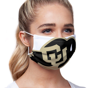 University of Colorado Buffs Logo Lockup - White Adult Main/Model View