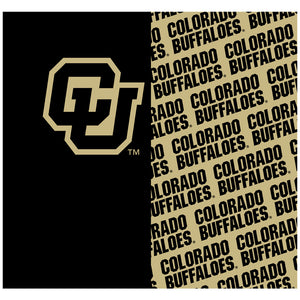 University of Colorado Buffs Split Pattern Adult Mask Design Full View