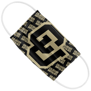 University of Colorado Buffs Logo Repeat - Black Kids Flat View