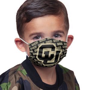 University of Colorado Buffs Logo Repeat - Black Kids Main Model View