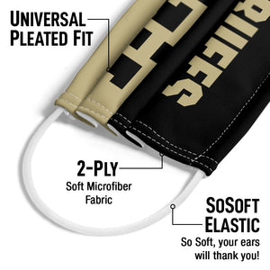University of Colorado Go Buffs Adult Universal Pleated Fit, 2-Ply, SoSoft Elastic Earloops