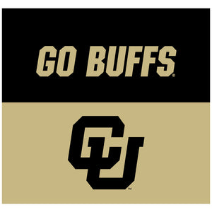 University of Colorado Go Buffs Adult Mask Design Full View