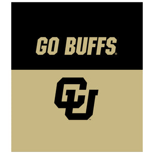 University of Colorado Go Buffs Kids Mask Design Full View