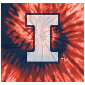 University of Illinois Fighting Illini Tie Dye Adult Mask Design Full View