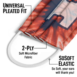 Load image into Gallery viewer, University of Illinois Fighting Illini Tie Dye Kids Universal Pleated Fit, 2-Ply, SoSoft Elastic Earloops