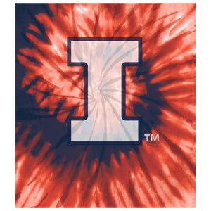 University of Illinois Fighting Illini Tie Dye Kids Mask Design Full View