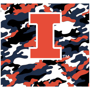 University of Illinois Fighting Illini Camo Adult Mask Design Full View