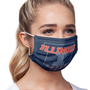 Load image into Gallery viewer, University of Illinois Badge - Fighting Illini Blue Adult Main/Model View