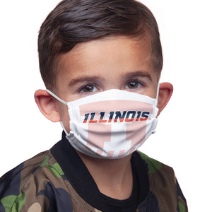 University of Illinois Badge - Fighting Illini White Kids Main Model View