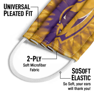 Load image into Gallery viewer, University of Northern Iowa Panthers Tie Dye Kids Universal Pleated Fit, 2-Ply, SoSoft Elastic Earloops