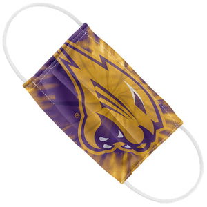 Load image into Gallery viewer, University of Northern Iowa Panthers Tie Dye Kids Flat View