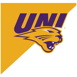 University of Northern Iowa Panthers - Gold and White Adult Mask Design Full View