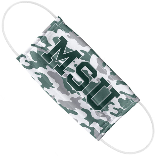Michigan State University Spartans MSU Camo Adult Flat View