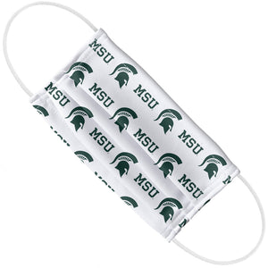 Michigan State University Spartans Logo Repeat -  MSU Away Adult Flat View