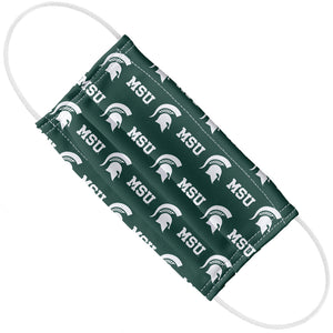 Michigan State University Spartans Logo Repeat - MSU Home Adult Flat View