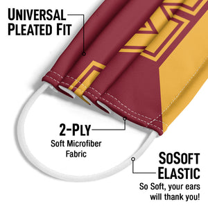 University of Minnesota Gophers Maroon and Gold Adult Universal Pleated Fit, 2-Ply, SoSoft Elastic Earloops