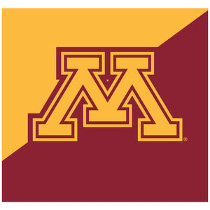 University of Minnesota Gophers Maroon and Gold Adult Mask Design Full View