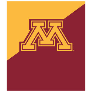 University of Minnesota Gophers Maroon and Gold Kids Mask Design Full View