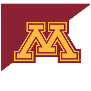 University of Minnesota Maroon and White Adult Mask Design Full View