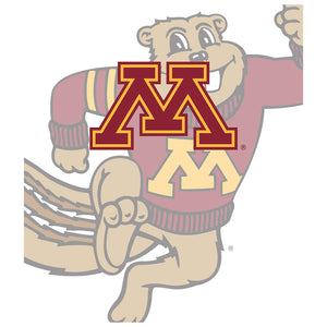 Load image into Gallery viewer, University of Minnesota Golden Gophers - Away Kids Mask Design Full View