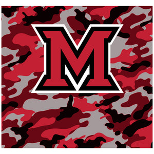 Load image into Gallery viewer, Miami University Ohio Camo Adult Mask Design Full View