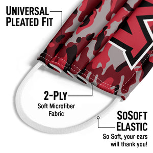 Load image into Gallery viewer, Miami University Ohio Camo Kids Universal Pleated Fit, 2-Ply, SoSoft Elastic Earloops