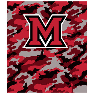 Load image into Gallery viewer, Miami University Ohio Camo Kids Mask Design Full View