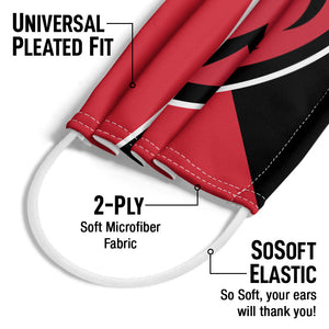 Miami University RedHawks - Black and Red Adult Universal Pleated Fit, 2-Ply, SoSoft Elastic Earloops