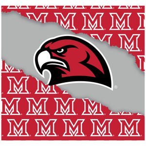 Miami University RedHawks Ripped Through Adult Mask Design Full View