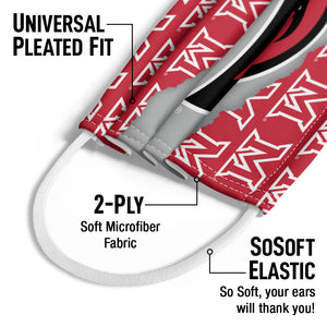 Miami University RedHawks Ripped Through Kids Universal Pleated Fit, 2-Ply, SoSoft Elastic Earloops