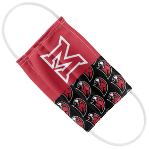Miami University RedHawks Split Logo Pattern Kids Flat View