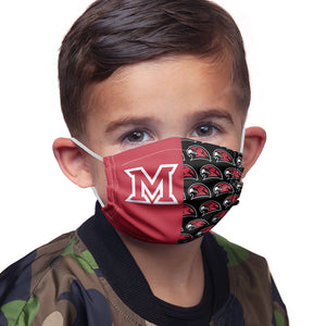 Miami University RedHawks Split Logo Pattern Kids Main Model View