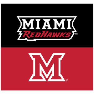 Miami University RedHawks Pride Adult Mask Design Full View