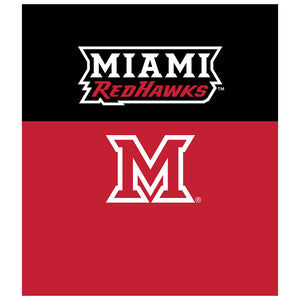 Miami University RedHawks Pride Kids Mask Design Full View