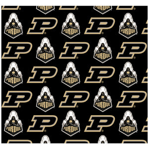 Load image into Gallery viewer, Purdue Boilermakers Logo Repeat - Home Adult Mask Design Full View