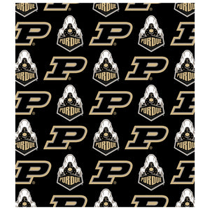 Load image into Gallery viewer, Purdue Boilermakers Logo Repeat - Home Kids Mask Design Full View