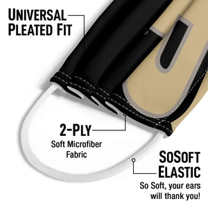 Purdue Boilermakers Logo Gold Kids Universal Pleated Fit, 2-Ply, SoSoft Elastic Earloops