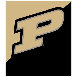 Purdue Boilermakers Logo Gold Kids Mask Design Full View