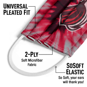 Load image into Gallery viewer, Rutgers University Scarlet Knights Tie Dye Kids Universal Pleated Fit, 2-Ply, SoSoft Elastic Earloops
