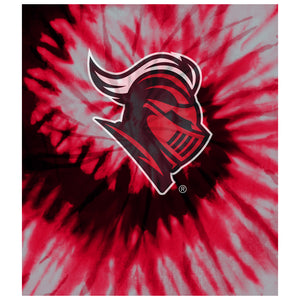 Load image into Gallery viewer, Rutgers University Scarlet Knights Tie Dye Kids Mask Design Full View