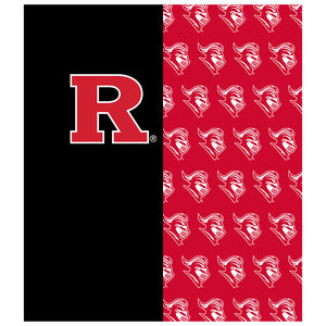 Load image into Gallery viewer, Rutgers University Scarlet Knights Split Color logo pattern Kids Mask Design Full View